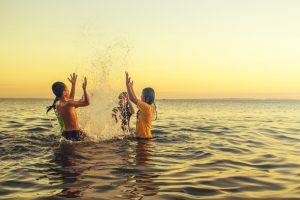 Barn och båtliv perfekta kombinationen