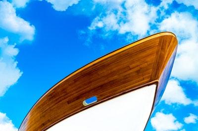 En vacker finish på båten